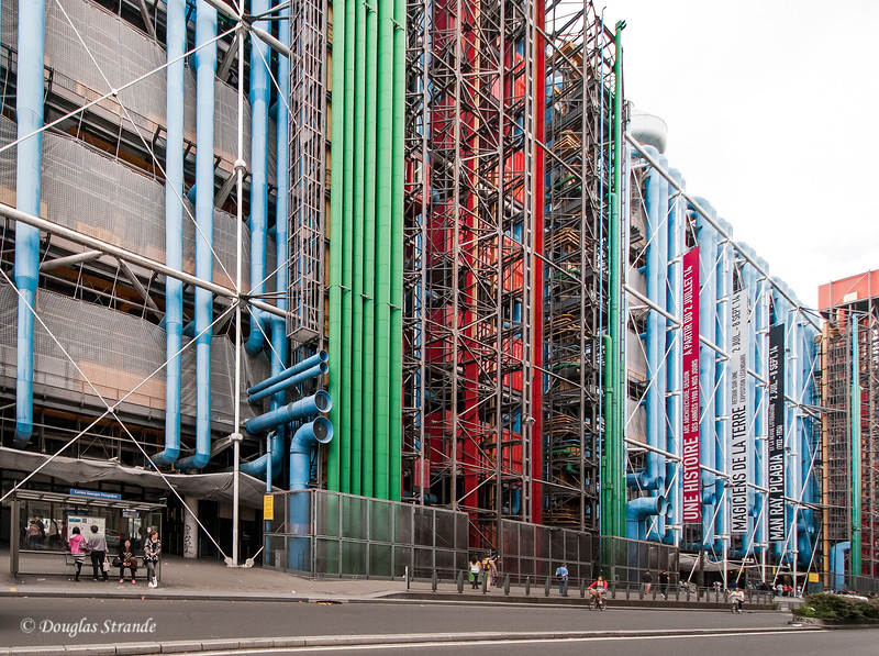 Pompidou Center has all utilities on the exterior.