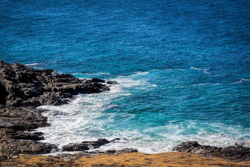 Ocean view from hilltop