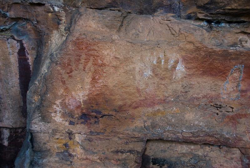 Hand Print Rock Art, Anbangbang, Kakadu National Park - Northern Territory, Australia