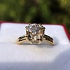 Spilt Prong Yellow Gold Solitaire Mounting, by Stuller 19