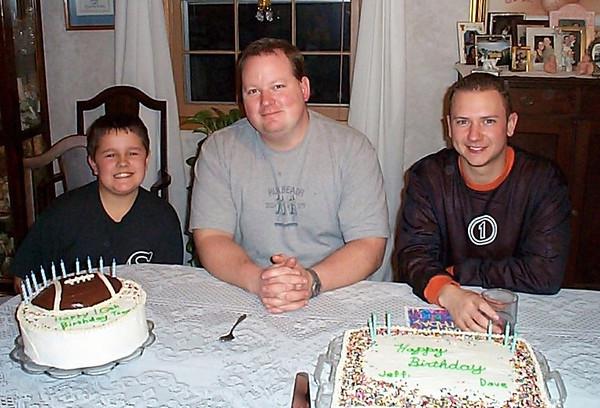 Tony, Dave & Jeff D Birthday - January 15, 2001