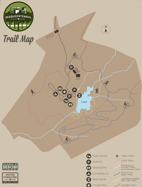 Sesquicentennial State Park (Trail Map)