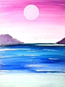 """""""Jasmine Beach"""" (acrylic) by Anna Adams"""