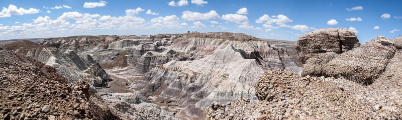 The canyons of the Painted Desert