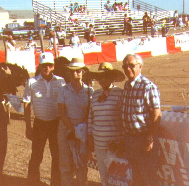 Hal & Valerie Johnson, Wayne & Bonnie Eldredge, Ostrch Festival, Chandler,AZ, 1992   - Copy.jpg