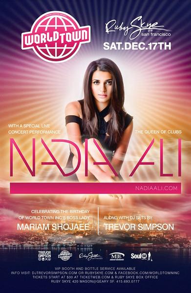Nadia Ali @ Ruby Skye 12.17.11