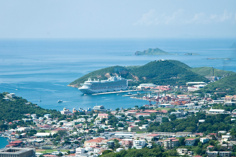 View of Emerald Princess in St Thomas