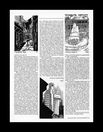 """""""Letter from China"""" in Inland Architect, 1989"""