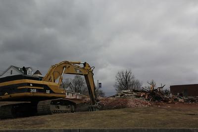Demolition Status, Nurses' Residence, St Luke's Hospital - Miners Campus, Coaldale (3-28-2013)