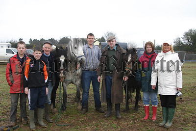 Vintage Harvest Festival Organisers Joe Mc Creesh and Helen Mc Parland with Ploughing Judge Mr Sean Cooney. 06W11N85