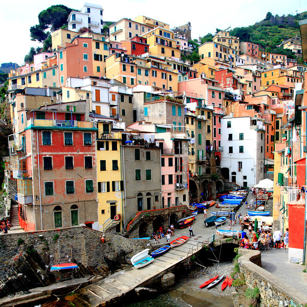 Riomaggiore, the southernmost of the five villages.