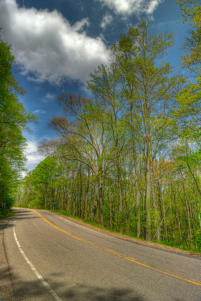 View along Highway 421 leading into Shady Valley, TN on Thursday, May 3, 2012. Copyright 2012 Jason Barnette