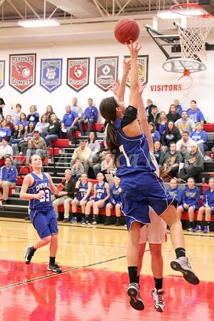 Girls Basketball, Danville vs Cardinal 1/10/2014