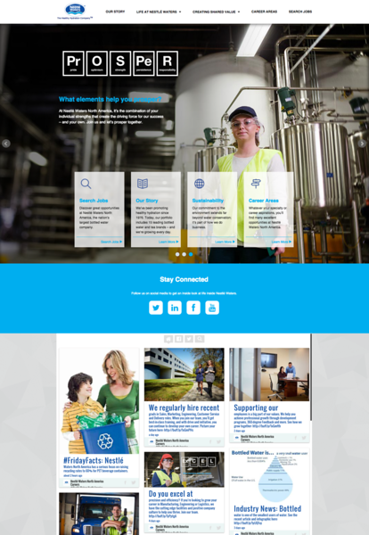 nestle water careers