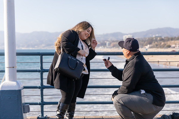 2020.02.14 Valntines Day Proposal on the Santa Monica Pier from Richard