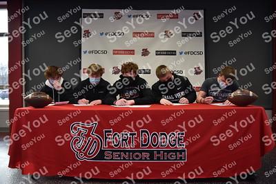2021 Dodger Football Letter Intent Signing
