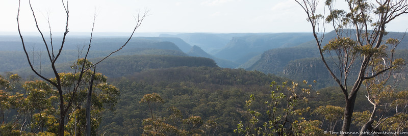 Nattai scenery from the slopes of Mt Waratah