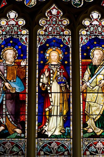 Stained glass window, St Margarets Church, Uxbridge, Middlesex, United Kingdom