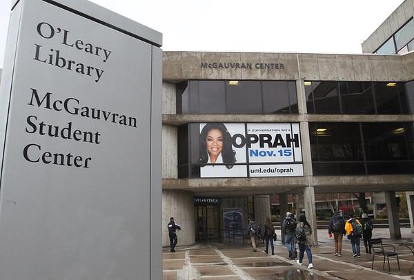 Oprah banner at UMass Lowell 111318