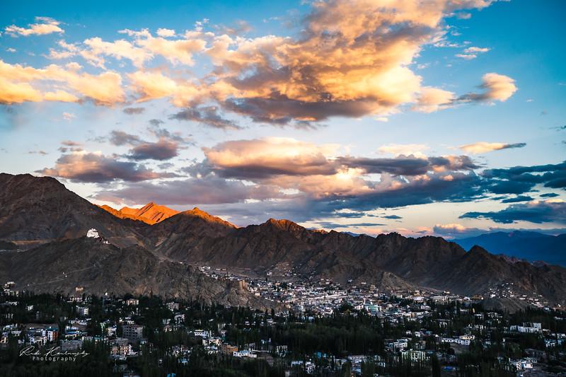 Sunset in Leh city