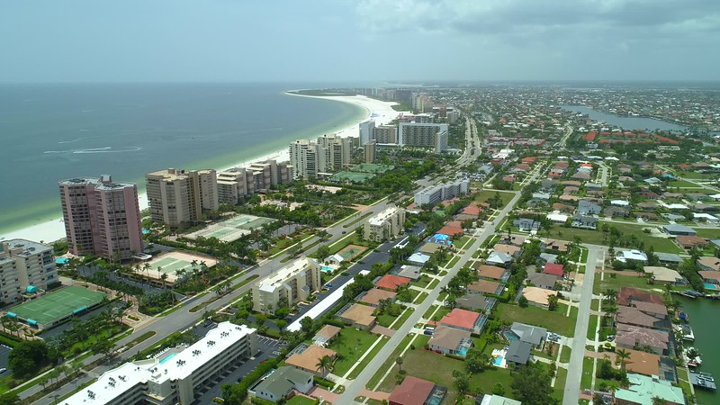 Aerial video City of Marco Island Florida