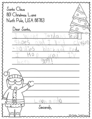Mrs. Chapin's Second Grade Letters to Santa
