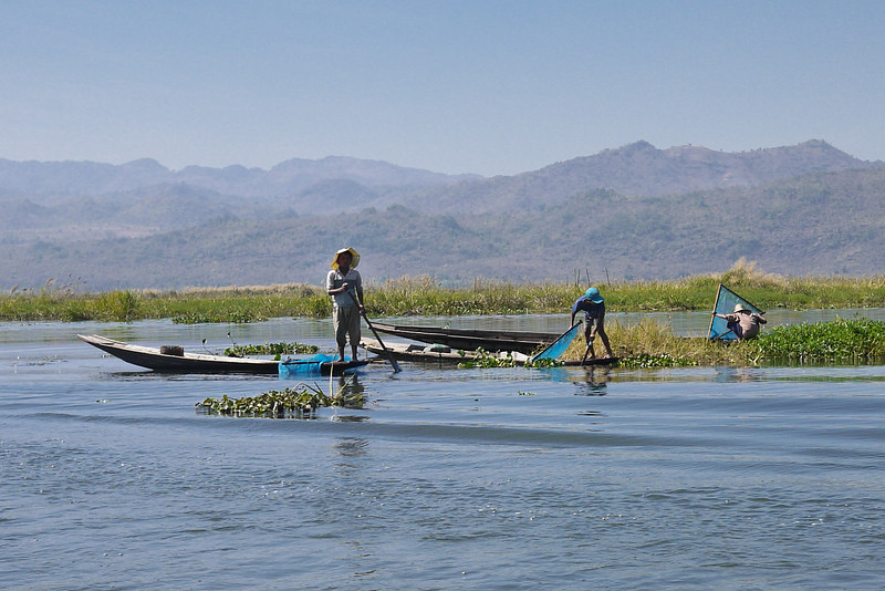 Fishermen on the Inle Lake, Burma (Myanmar).