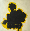 """Yellow Spot-Marcoux, 30""""X30"""" painting on unframed paper"""