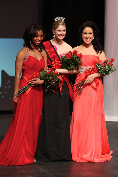 Verhonda Crawford, 2nd runner-up, Sara Jolley, Miss Gardner-Webb, and Amber Gold, 1st runner-up pose for a picture