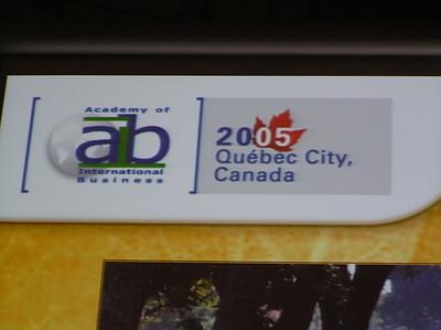 AIB 2005 Quebec City