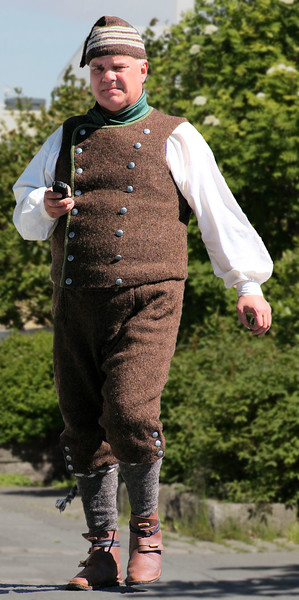 Farmer 18th century fine agrarian wool costume