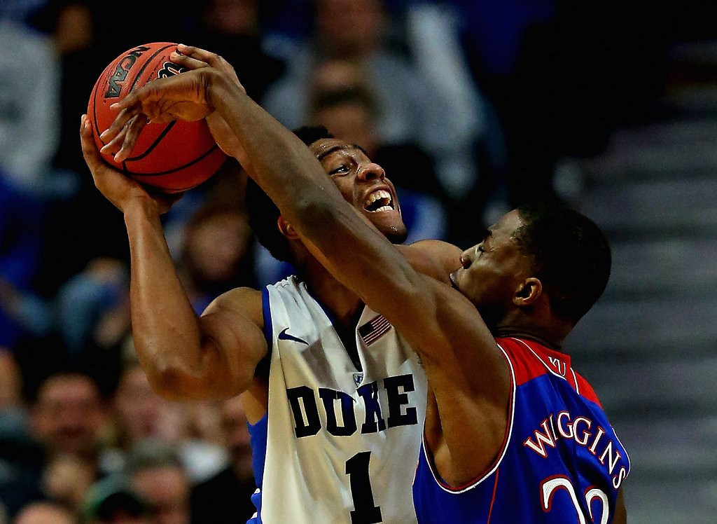 ". <p>10. (tie) JABARI PARKER & ANDREW WIGGINS <p>Tournament showed neither is remotely ready for NBA. But that won�t keep them out of draft. (previous ranking: unranked) <p><b><a href=\'http://blacksportsonline.com/home/2014/03/charles-barkley-wiggins-jabari-arent-ready-to-play-against-grown-men/\' target=""_blank\""> HUH?</a></b> <p>    (Jonathan Daniel/Getty Images)"