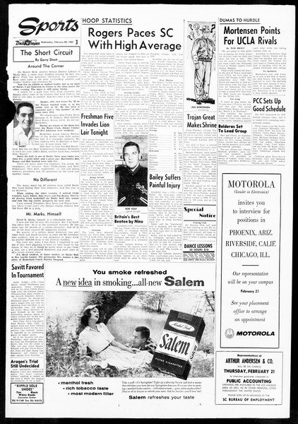 Daily Trojan, Vol. 48, No. 77, February 20, 1957