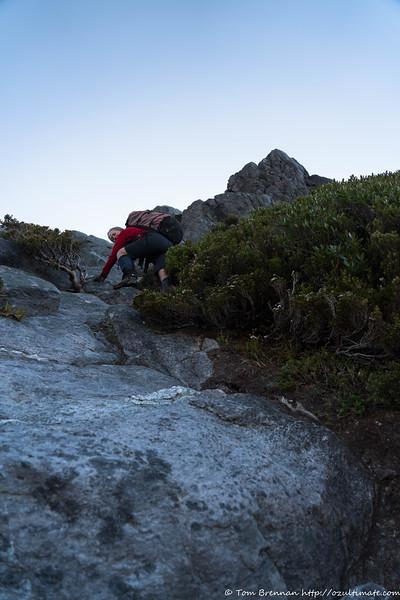 More steep climbing