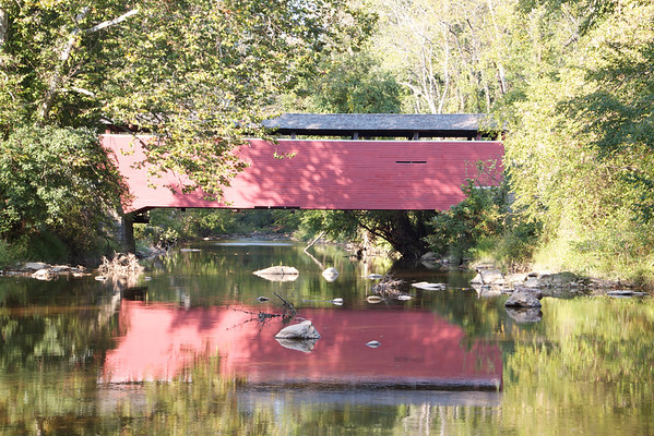 Fairhill Red Covered Bridge