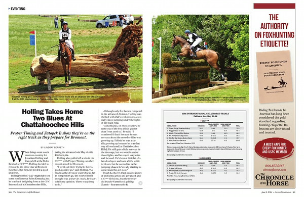 Chronicle of the Horse June 2014
