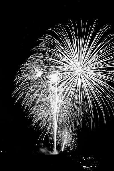 Frisco Fireworks (B&W)