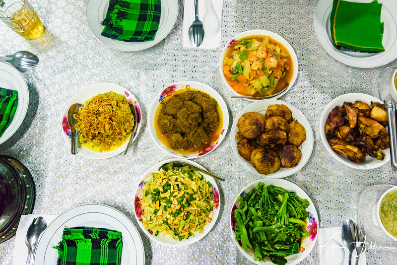 We were invited into the Mandalay home of Oma and his family.  His mother was a restaurant owner and chef for many years, so we were treated to an amazing Burmese meal.