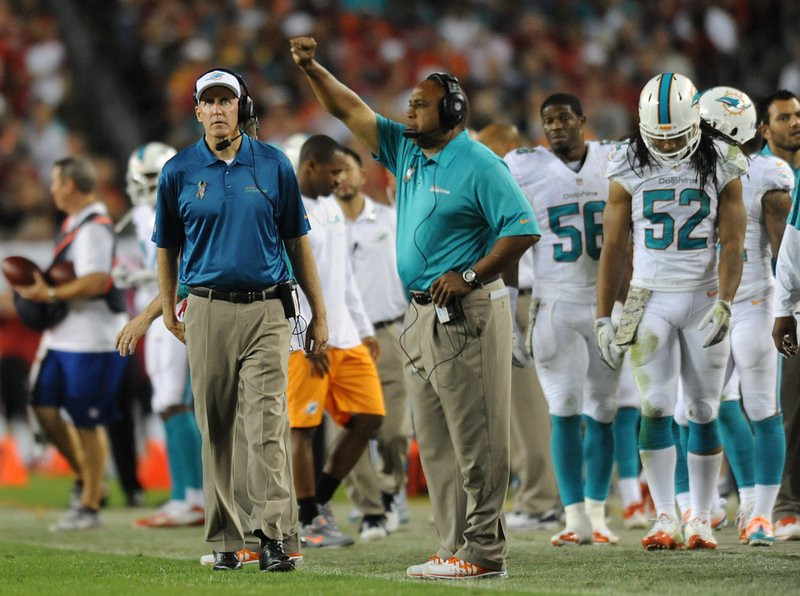 ". <p>9. MIAMI DOLPHINS <p>Incognito and Martin fortunate to miss rest of this train wreck. (1) <p><b><a href=\'http://www.nfl.com/news/story/0ap2000000280372/article/joe-philbin-jeff-ireland-head-list-of-coaches-gms-on-hot-seat\' target=""_blank\""> HUH?</a></b> <p>   (Jim Rassol/Sun Sentinel/MCT)"