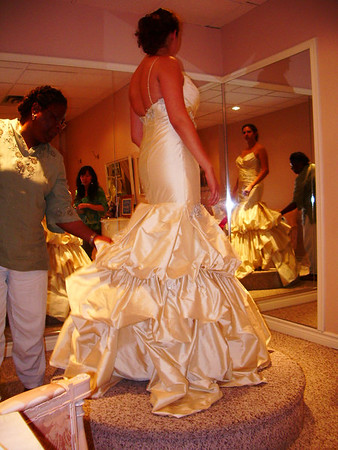 2006: I&C's Wedding: Dress fittings