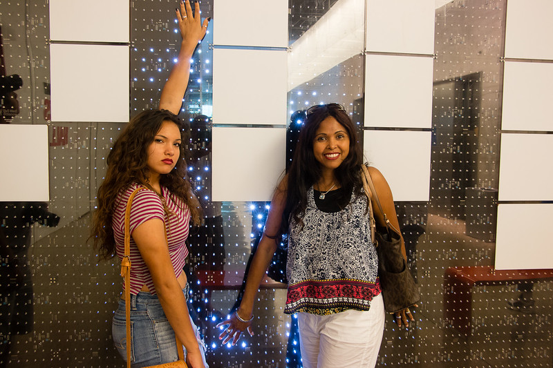 Jessica and Jasmine at the Perot Museum of Nature and Science in Dallas