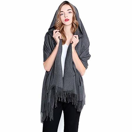 grey cashmere wrap