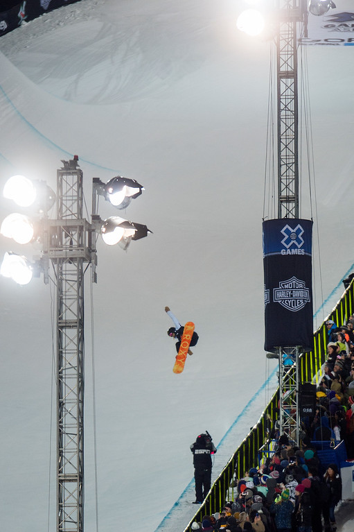 . Torah Bright of Australia competes in the first run of the women\'s snowboard halfpipe at Winter X Games Aspen 2015 at Buttermilk Mountain on January 24, 2015, in Aspen, Colorado. Bright finished sixth in the event. (Photo by Daniel Petty/The Denver Post)