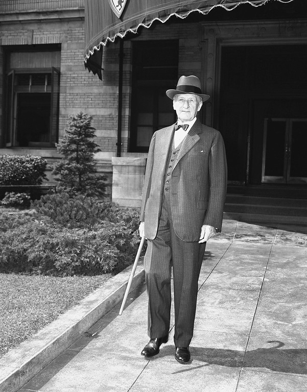 . Associated Justice James Clark McReynolds of the Supreme Court  leaving his Washington, D.C. home for the opening of the 1940-41 term of the court on Oct. 7, 1940. (AP Photo)