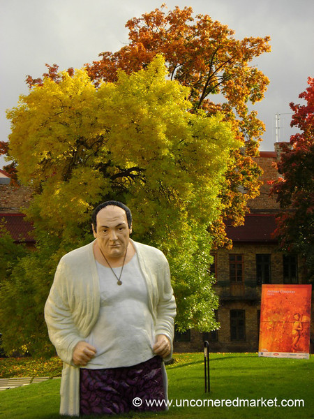 Tony Soprano Statue in Vilnius - Lithuania