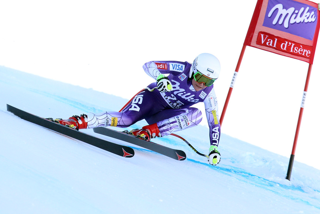. Alice McKennis of the USA competes during the Audi FIS Alpine Ski World Cup Women\'s Downhill on December 20, 2014 in Val dâIsere, France. (Photo by Christophe Pallot/Agence Zoom/Getty Images)