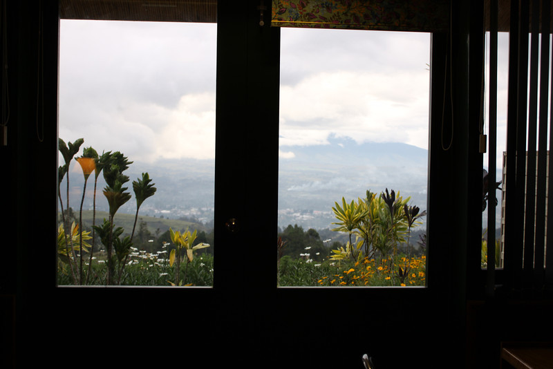 view of Mt Hagen from our room at Rondon Ridge