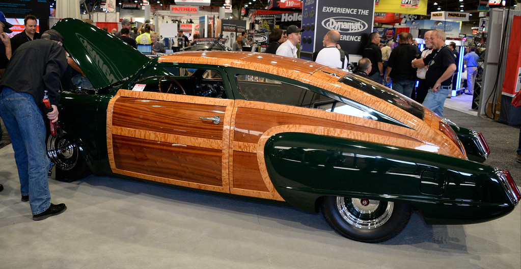. Nov 6,2013 Las Vegas NV. USA.  A 1951 custom  studebaker by Hills Rod & Custom Co. on display during the second day of the 2013 SEMA auto show. Photo by Gene Blevins/LA Daily News