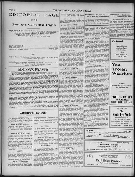 The Southern California Trojan, Vol. 9, No. 19, December 04, 1917