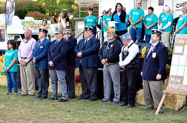 9/20/2019 Mike Orazzi | StaffrArea veterans while being honored during the Mum Festival on Friday evening in Bristol.